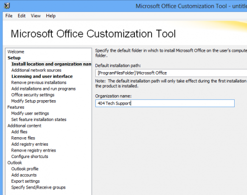 oct2013 500x395 Using the Office 2013 Microsoft Office Customization Tool and Office 2013 Group Policy Administrative Templates